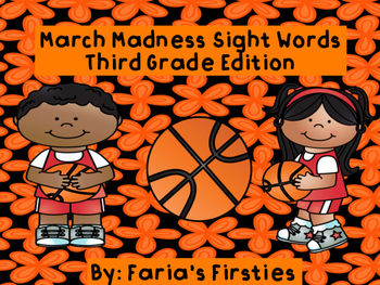 March Madness Basketball Third Grade Dolch Sight Words Game