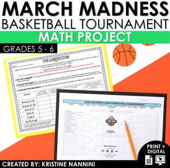 March Basketball Tournament Madness Math Project - PBL