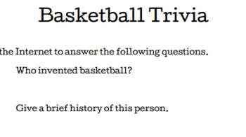 March Madness Basketball Trivia