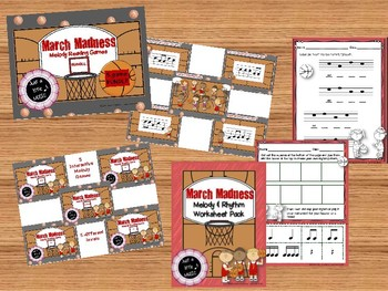 March Madness Big BUNDLE of 20 activities for rhythm and melody