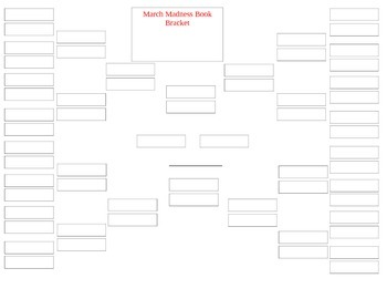 March Madness Book Bracket Challenge