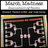 March Madness Book Tournament Bracket, Parent Letter, and Bulletin Board Decals