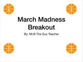 Basketball Breakout (Fraction/ Decimal)- digital escape room