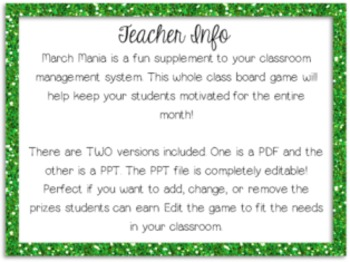 March Mania: Classroom Management Incentive