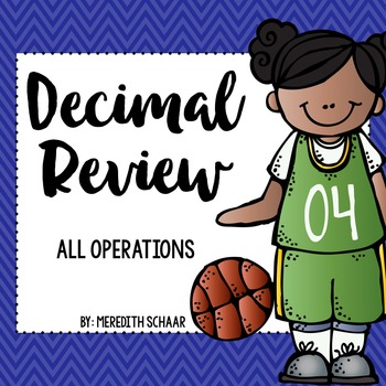 March Madness Decimal Review {All Operations}