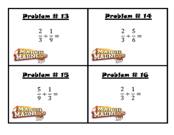 March Madness Division of Fractions