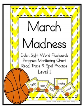 March Madness- Dolch Sight Words: Level 1 {flashcards and more!}