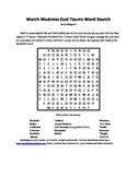 2013 March Madness East Teams Word Search A Basketball Bonanza