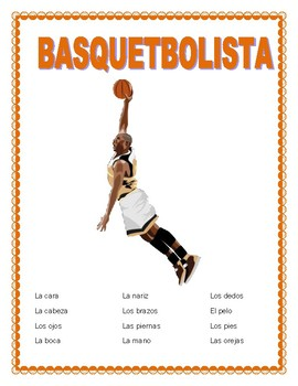 "March Madness ""El Basquetbolista""-Body Parts- Spanish-Mi Basquetbolista Favorito"
