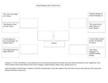 March Madness Elite 8 Short Story Bracket Assignment
