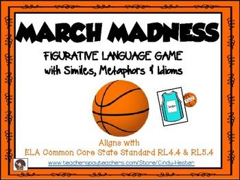 March Madness Figurative Language Game