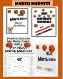 March Madness Fractions, Decimals, and Percents