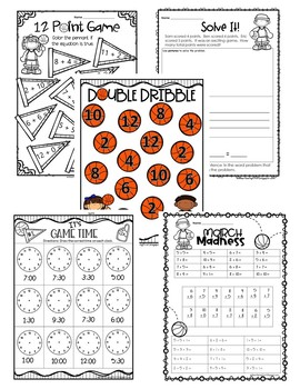 March Madness Freebie for First Grade