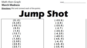 March Madness - Jump Shot - A Coordinate Graphing Activity