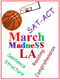 March Madness Language Arts Worksheets