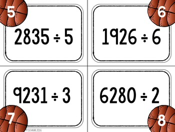 March Madness Long Division Practice {Differentiated}