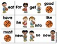 March Madness Matching Sight Word Game-Dolch Pre-Primer an