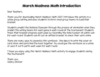 March Madness Math Basketball Tournament Project 2017 {Common Core Aligned}