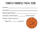 March Madness Math Basketball Tournament Project 2018 {Common Core Aligned}