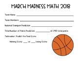 March Madness Math Basketball Tournament Project 2018 {Com