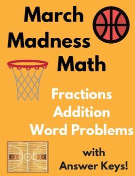 March Madness Math - Worksheet Three-Pack! (w/Answer Keys!)