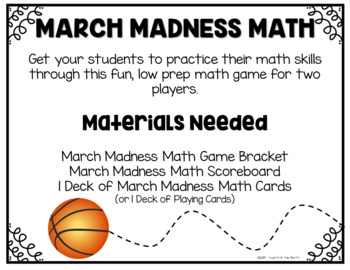 March Madness Math - Math Review Game