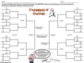 March Madness Math Review Packet - Area, Fractions, Decimals, and Percents