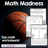 Math Madness Practice Sheets {Basketball-Themed}