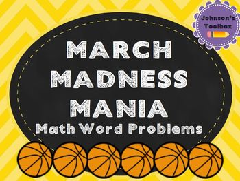 March Madness Math Word Problems Match/Sort