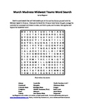 March Madness Midwest Teams Word Search, A Basketball Bonanza