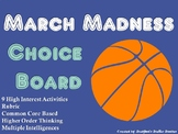 March Madness NCAA Basketball Tournament Choice Board Activities Menu