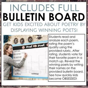March Madness Poet vs Poet Packet with poems, rubrics, short answers, and more!