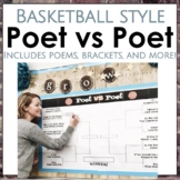 March Madness Poet vs Poet Packet with poems, rubrics, sho