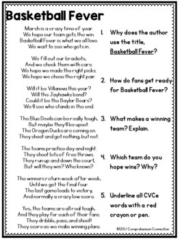 Basketball Fever Poetry Set