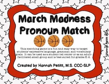 March Madness Pronoun Match