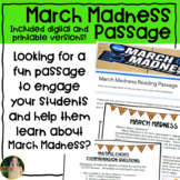 March Madness Reading Passage