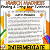 March Madness Reading Passage | Finding and Citing Text Evidence