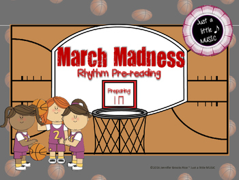 March Madness--Rhythm pre-reading notation to prepare ta and titi