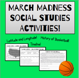 March Madness Social Studies Activities! Map, Timeline, and Text!
