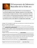 March Madness Word Search and Spanish Reading Activity