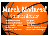 March Madness Statistics Activity -Real World Application