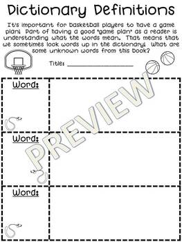 March Madness Tournament of Books Comprehension/Reading Response Pack