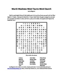 March Madness West Teams Word Search, A Basketball Bonanza