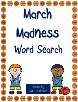 March Madness Word Search by Faith n Firsties | Teachers ...