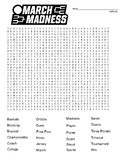 March Madness difficult word search and coloring page  (could use in SUB PLAN?)