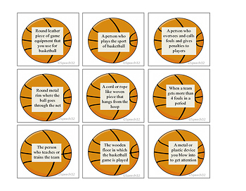March Madness is here! Building vocabulary with a basketball theme!