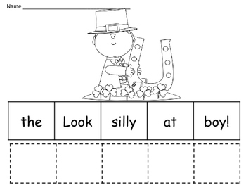 March Making Sentences Activity