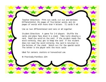 March Mardi Gras Themed Long-O Game, differentiated