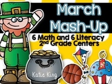 March Mash-Up 2nd Grade: 6 Math and 6 Literacy Centers