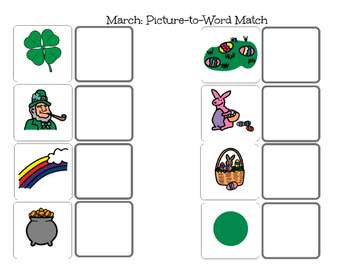 March Match-Picture and Word Match